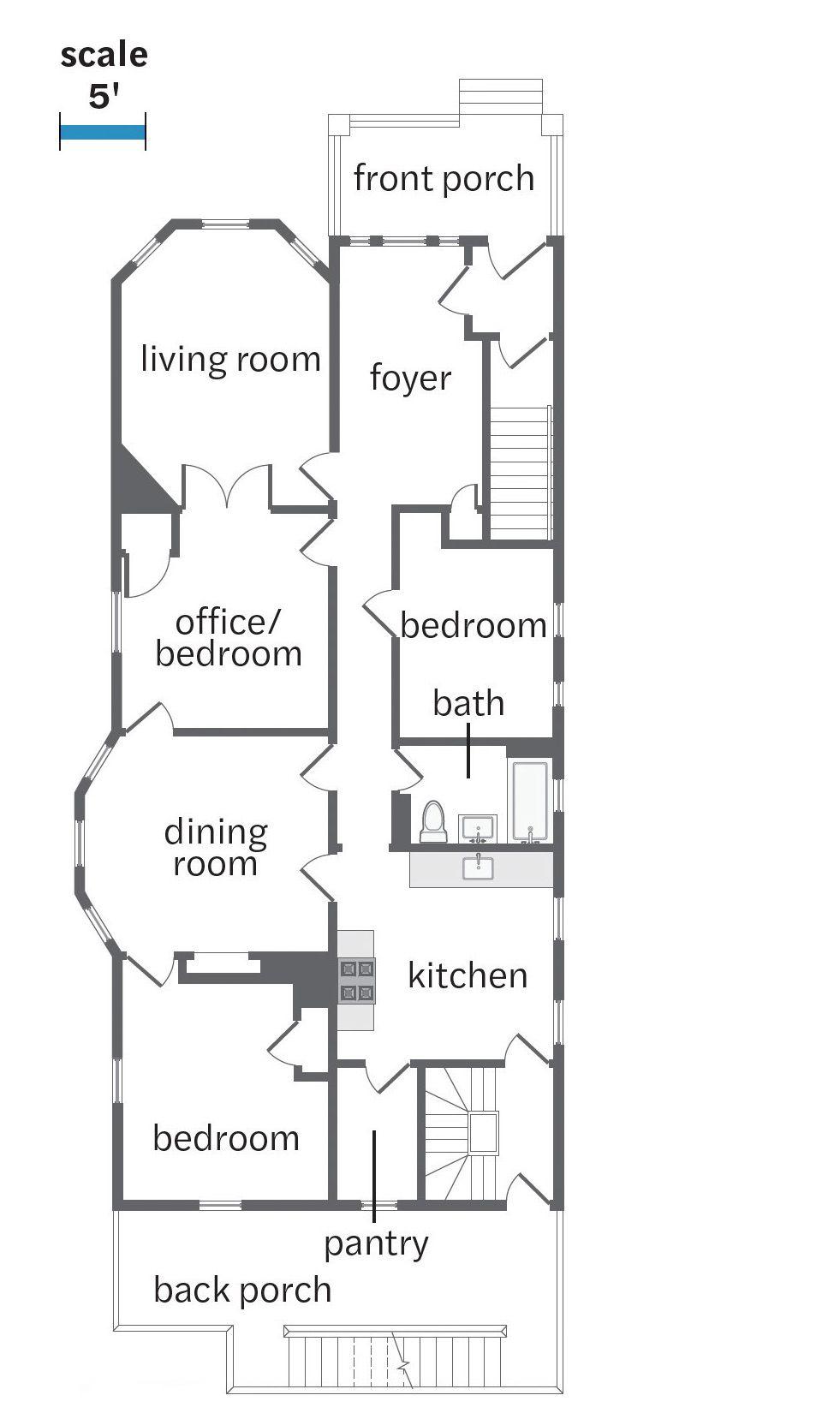 Fall 2021, Dorchester reveal, 1st floor plans