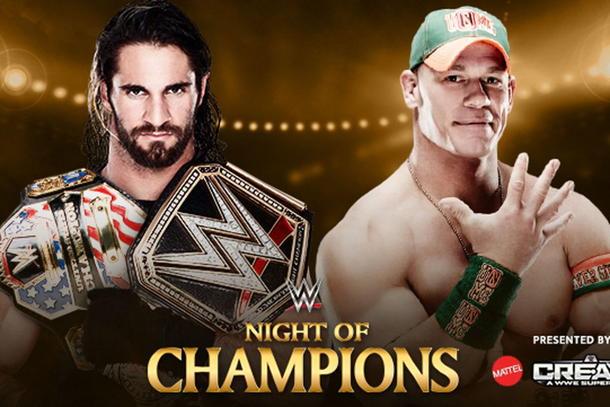 Seth rollins vs john cena night of champions 2015 full match preview cageside seats - Night of champions 2010 match card ...