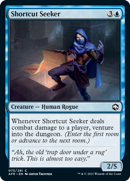 Shortcut Seeker is a Human Ranger with the venture keyword