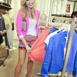 Katrina Bowden with her favorite spring pieces