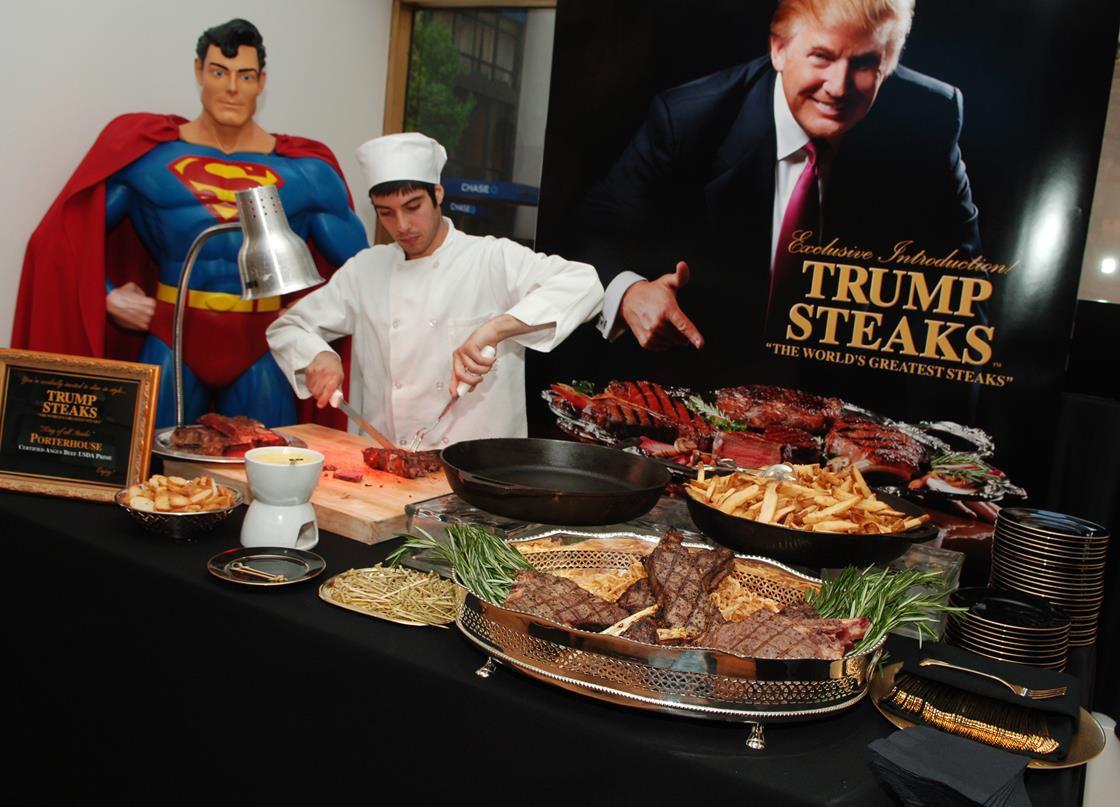 Trump steaks on display