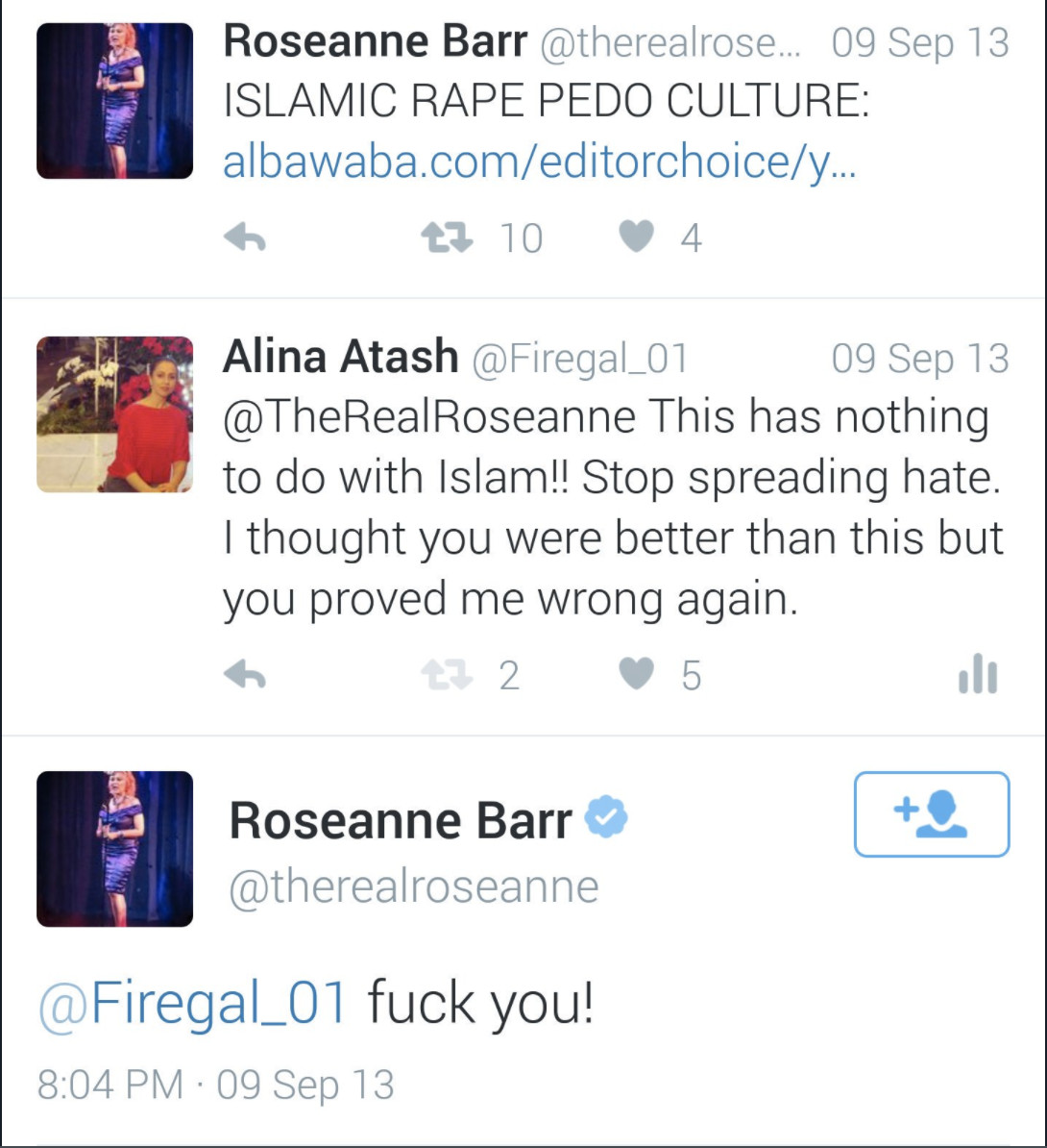 Roseanne's Twitter: full of racism and conspiracy theories