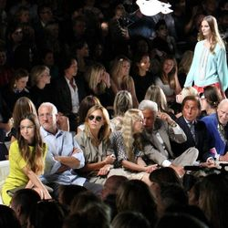 Amanda Rosenberg in the front row at the DVF show
