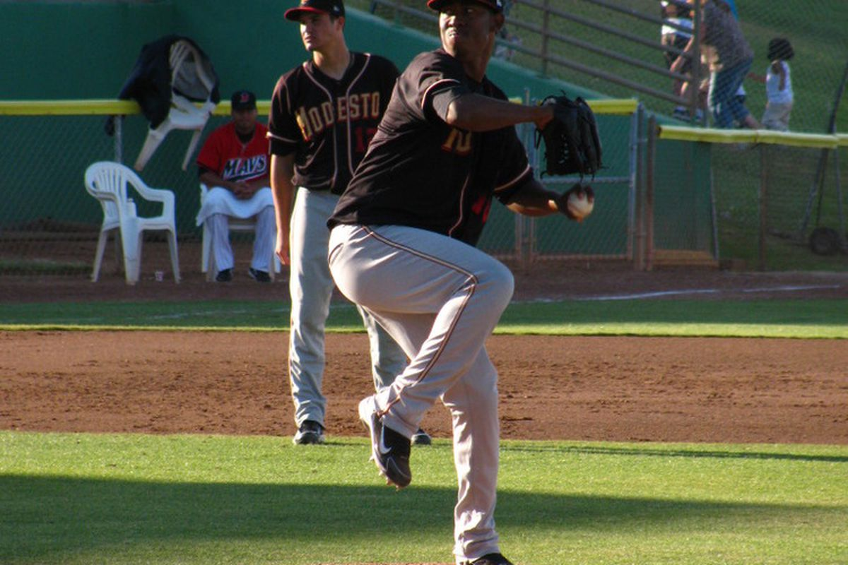 Edwar Cabrera was fabulous again, but unfortunately, he couldn't contribute in the bullpen or at the plate.  <em>Photo by Charlie77</em>