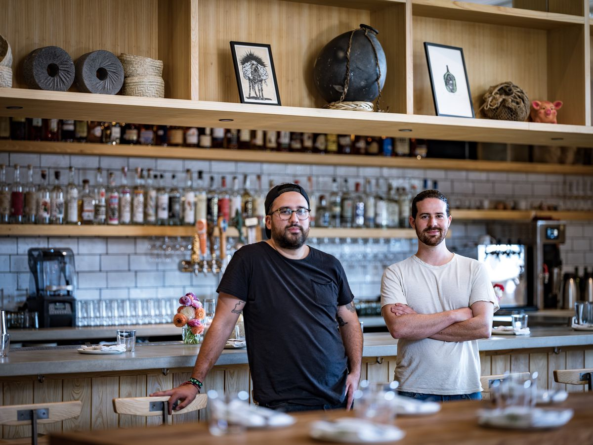 Suerte's executive chef Fermín Nuñez and owner Sam Hellman-Mass
