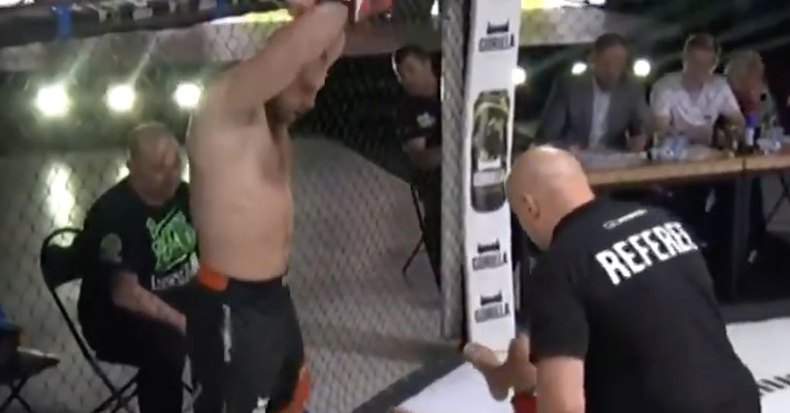 Russian fighter tries to wave off his own knockout at Open FC 7