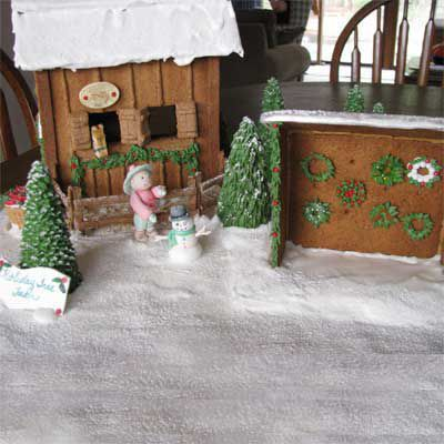 Gingerbread barn.