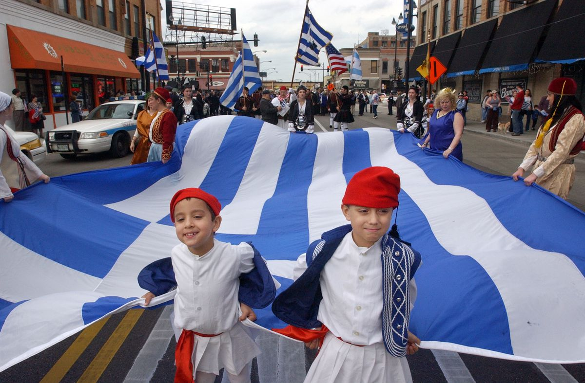 The Helenic Heritage parade through Greektown/   Sun-Times Archives