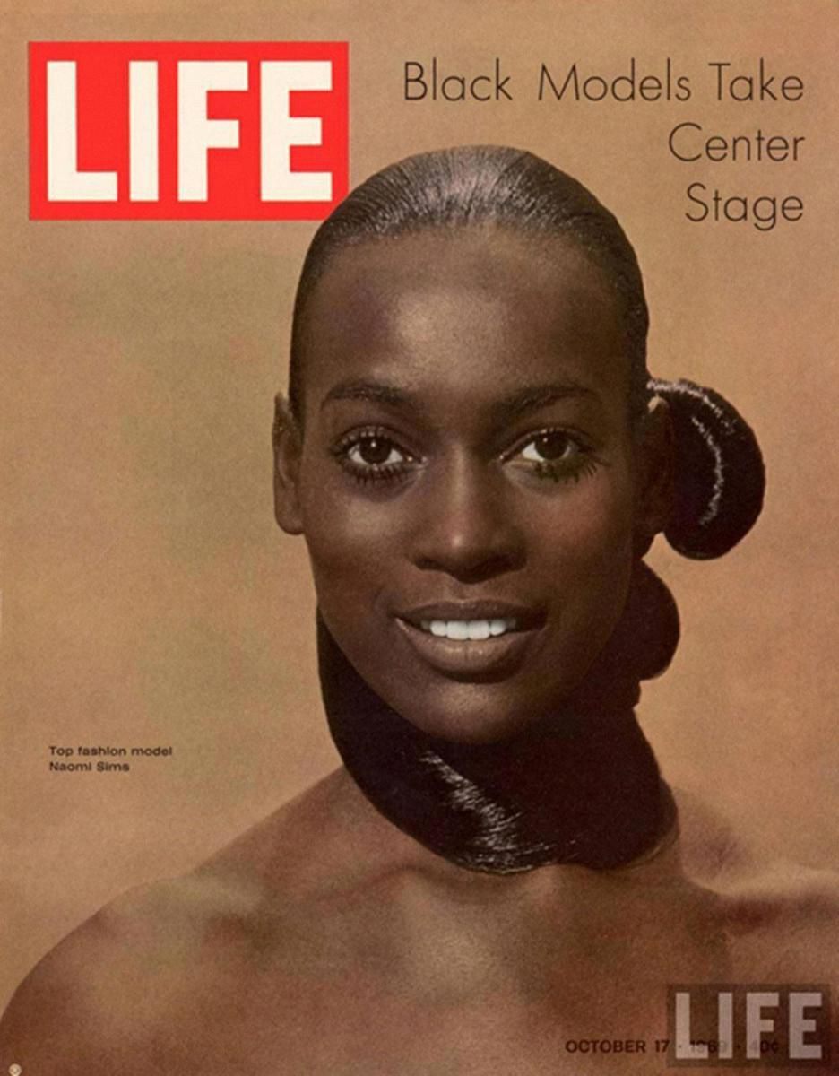 Naomi Sims on the cover of Life.
