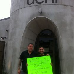 Looks like Philip Speer, director of operations for Uchi, gives Lyle his blessing.