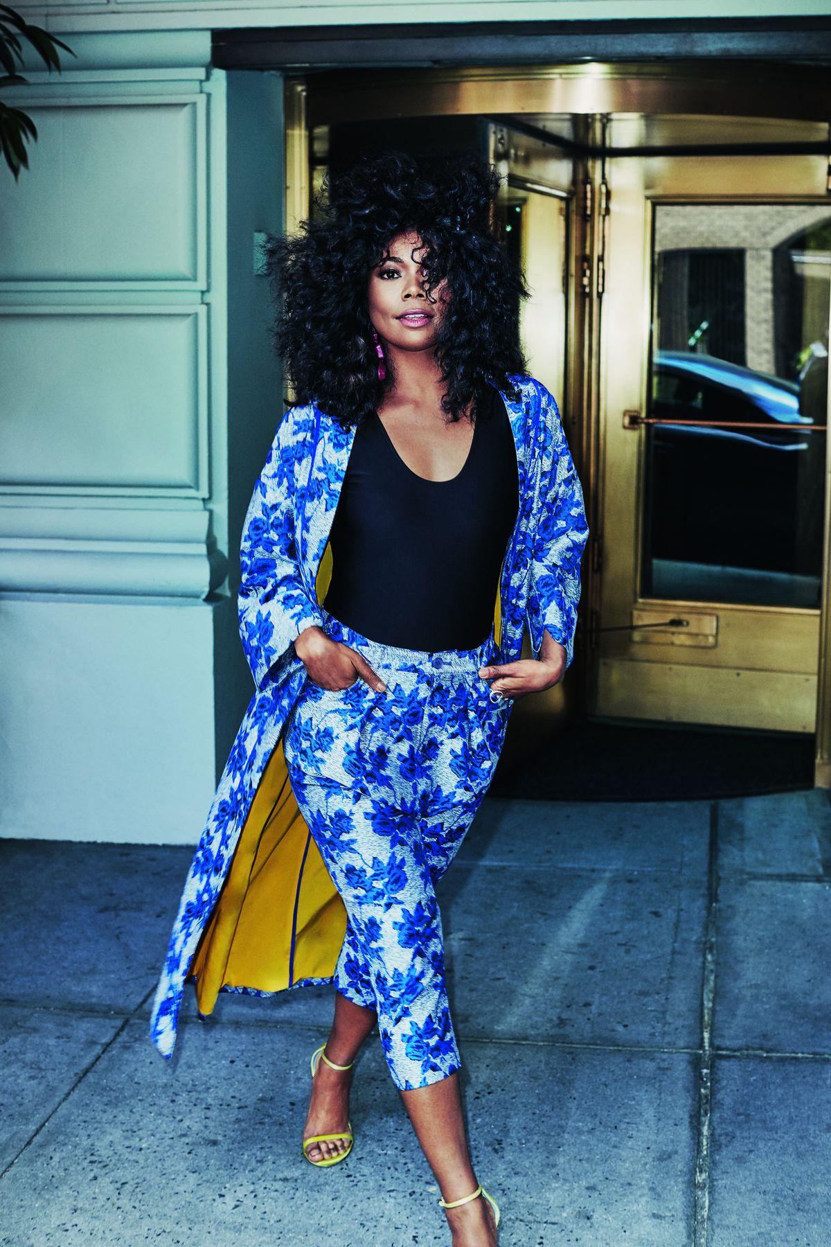 Gabrielle Union Collection Long Floral Kimono, $129.95, Bodysuit, $49.95, and Floral Harem Pant, $64.95