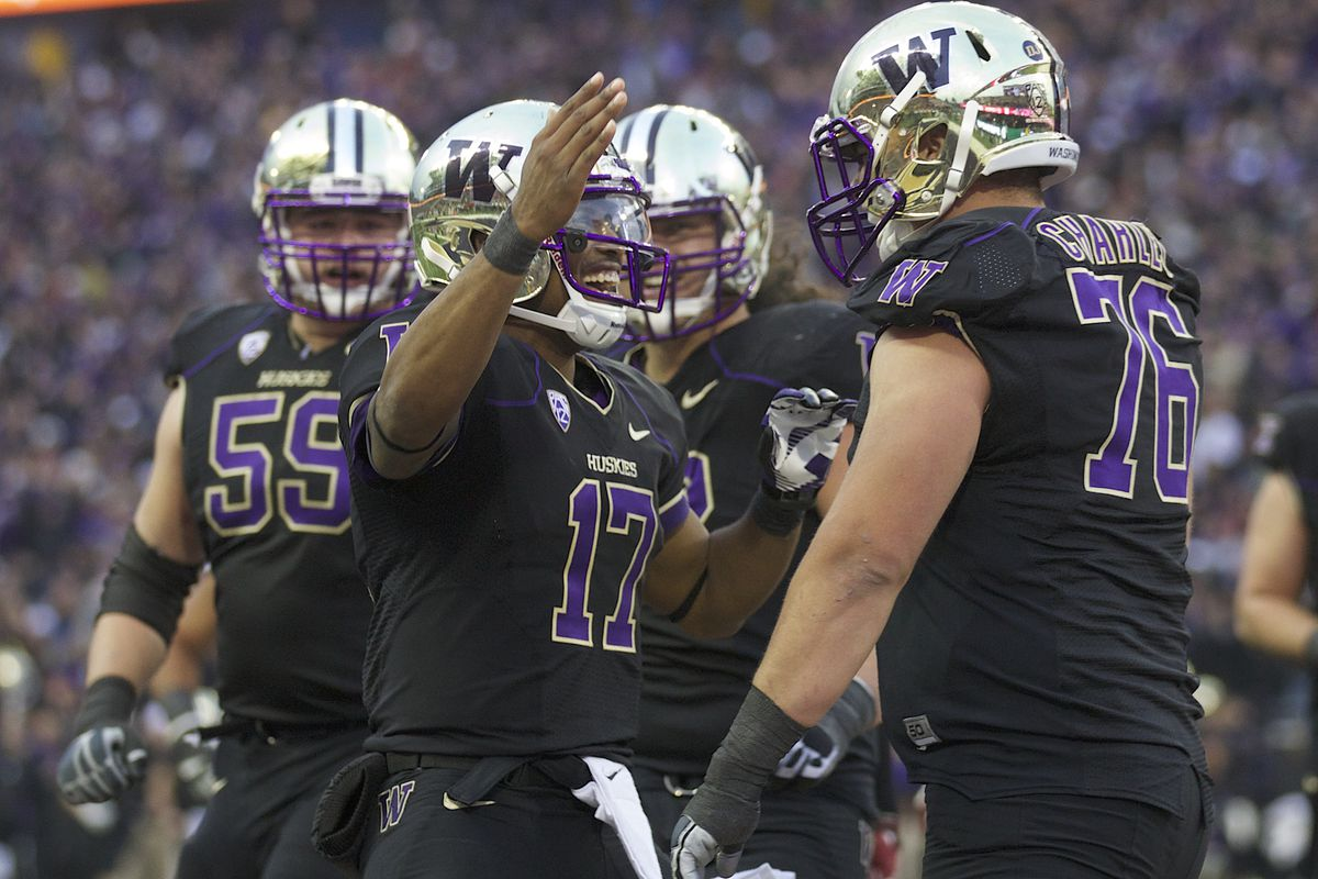 Thanks to aggressive restocking, UW's offensive line will have many celebrations in its future.