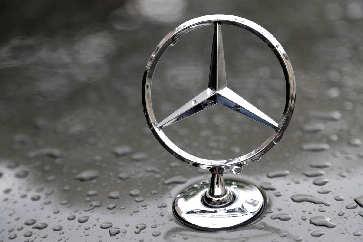 FILE - A July 28, 2017 file photo shows the logo of German car manufacturer Mercedes-Benz in Munich, Germany. The U.S. government is investigating German automaker Mercedes-Benz, alleging that is has been slow to mail safety recall notices and file requir
