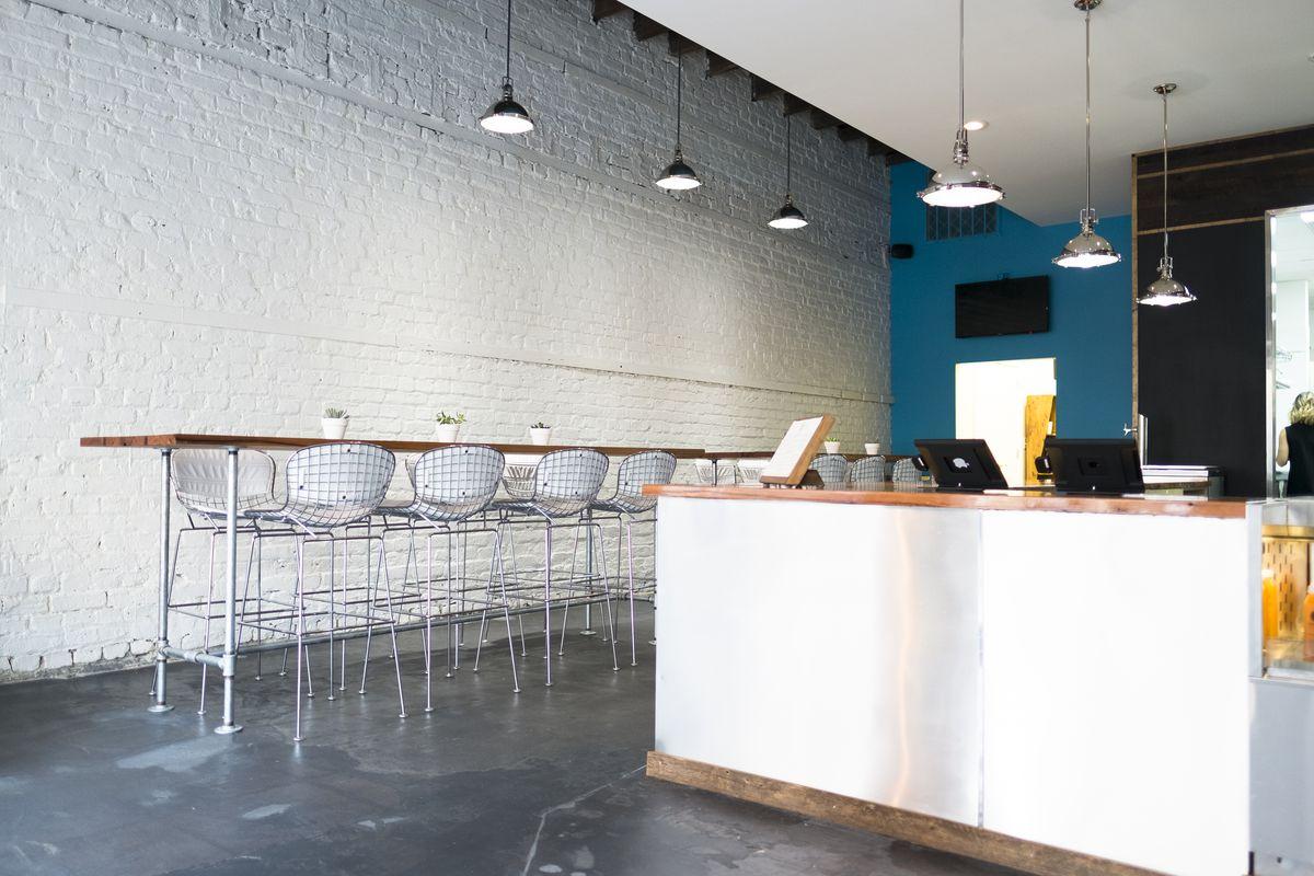 Inside Beech, a new juice bar overlooking King Street