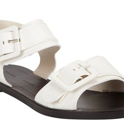 """<b>Proenza Schouler</b> Leather Buckle Flat Sandals, <a href=""""http://www.barneys.com/on/demandware.store/Sites-BNY-Site/default/Product-Show?pid=503117424&cgid=womens-sandals-flats&index=28"""">$595</a>"""