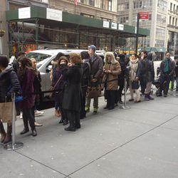 A shot of the line from this morning