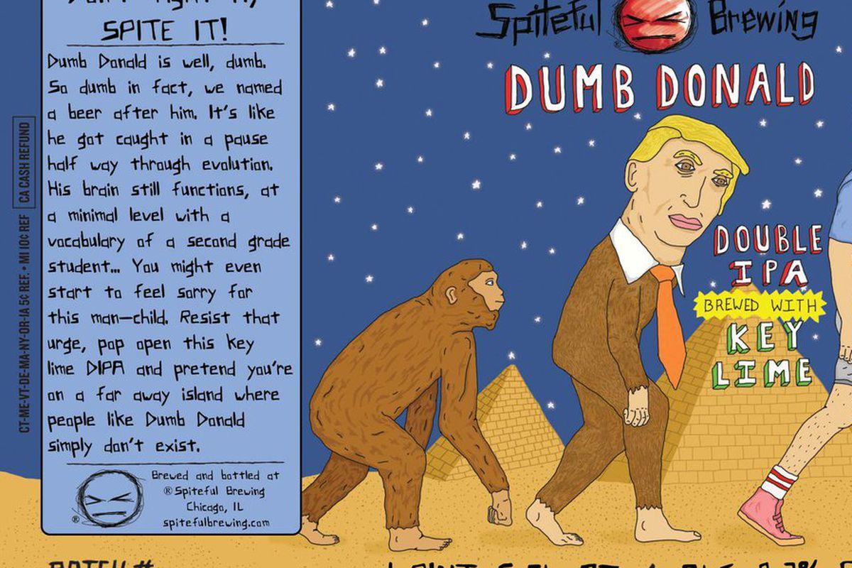Dumb Donald beer label