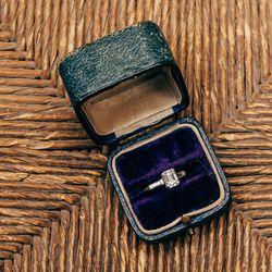 1930's Emerald Cut 1.15 Carat Diamond Engagement Ring, $8,995