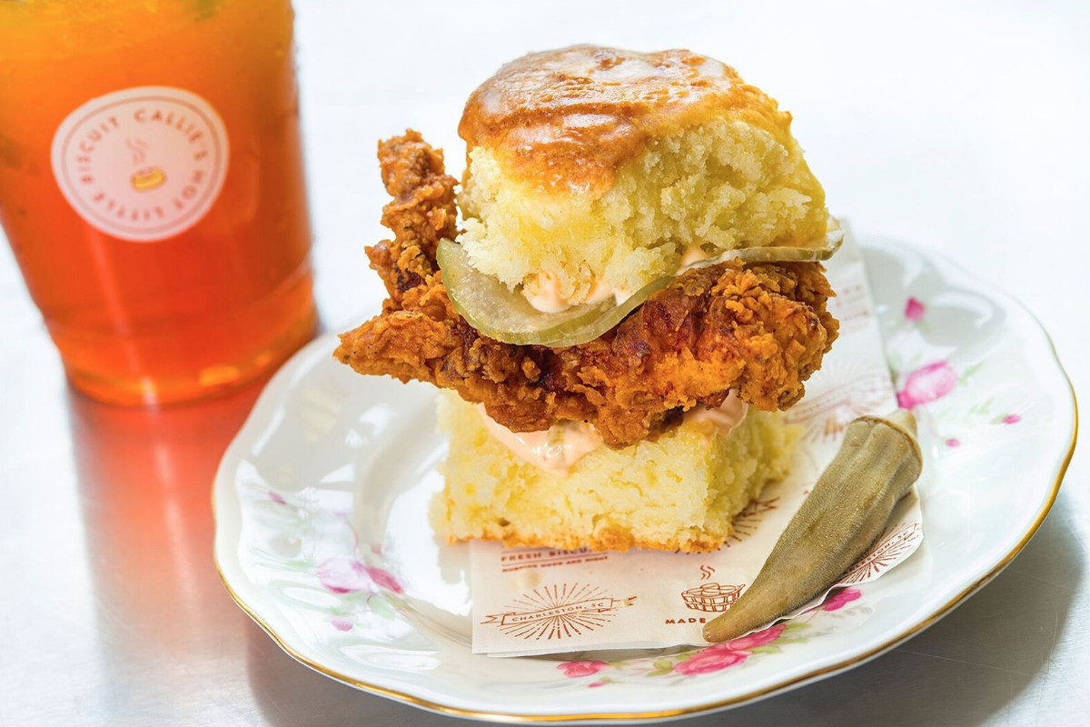 A sandwich from Callie's Hot Little Biscuit