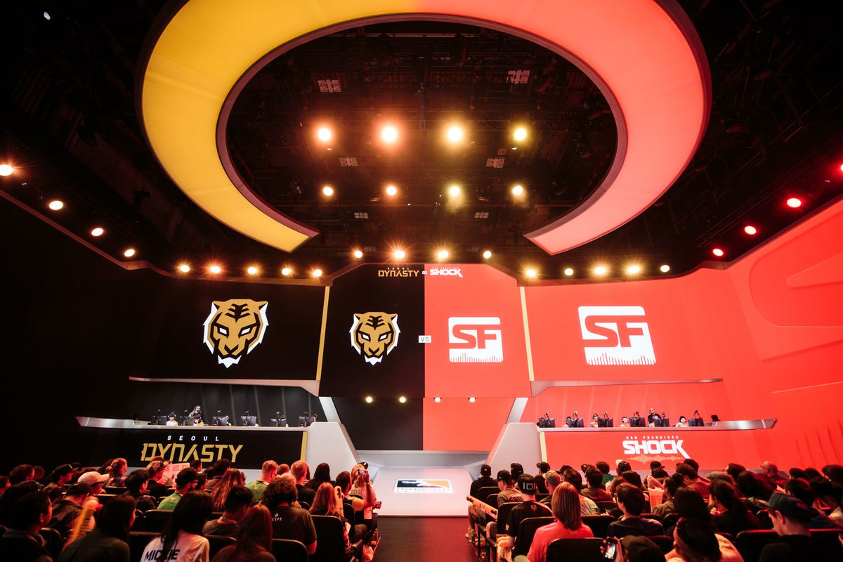 The Seoul Dynasty and San Fransisco Shock face off in the Blizzard Arena