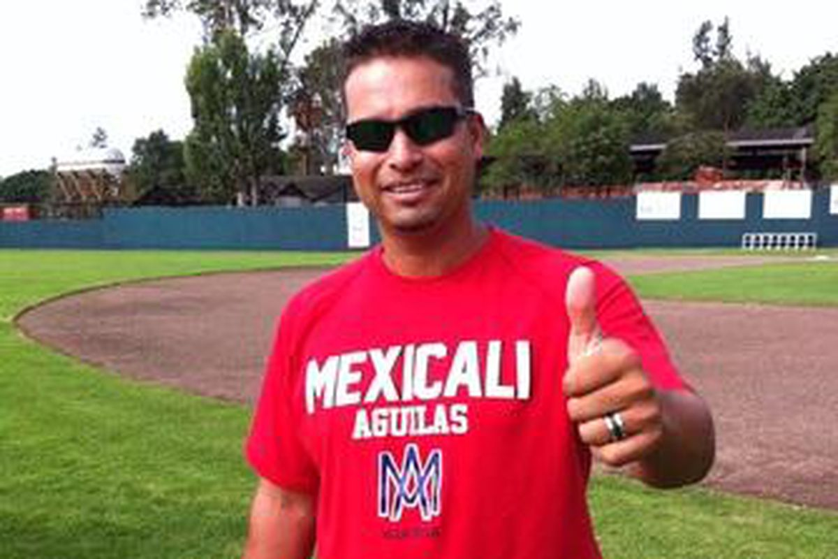 Former Dodgers player and current infield coordinator Juan Castro manages the Aguilas de Mexicali in the Mexican Pacific League