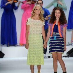 Designer Nanette Lepore and her daughter Violet walk the runway.