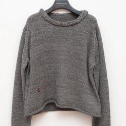 "<a href=""http://www.unitedbamboo.com/store/Rolled-Collar-Alpaca-Pullover-Grey-FS.html"">Rolled Collar Alpaca Pullover</a>, $192 (was $320.00)"