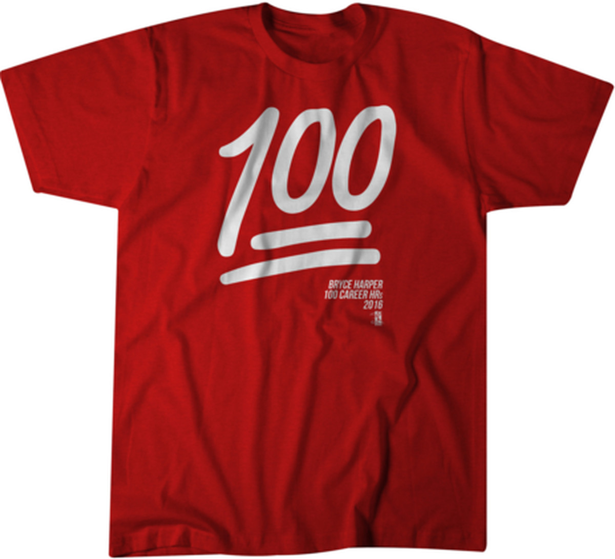 Bryce harper 100 home runs emoji t shirt available for Bryce harper mvp shirt
