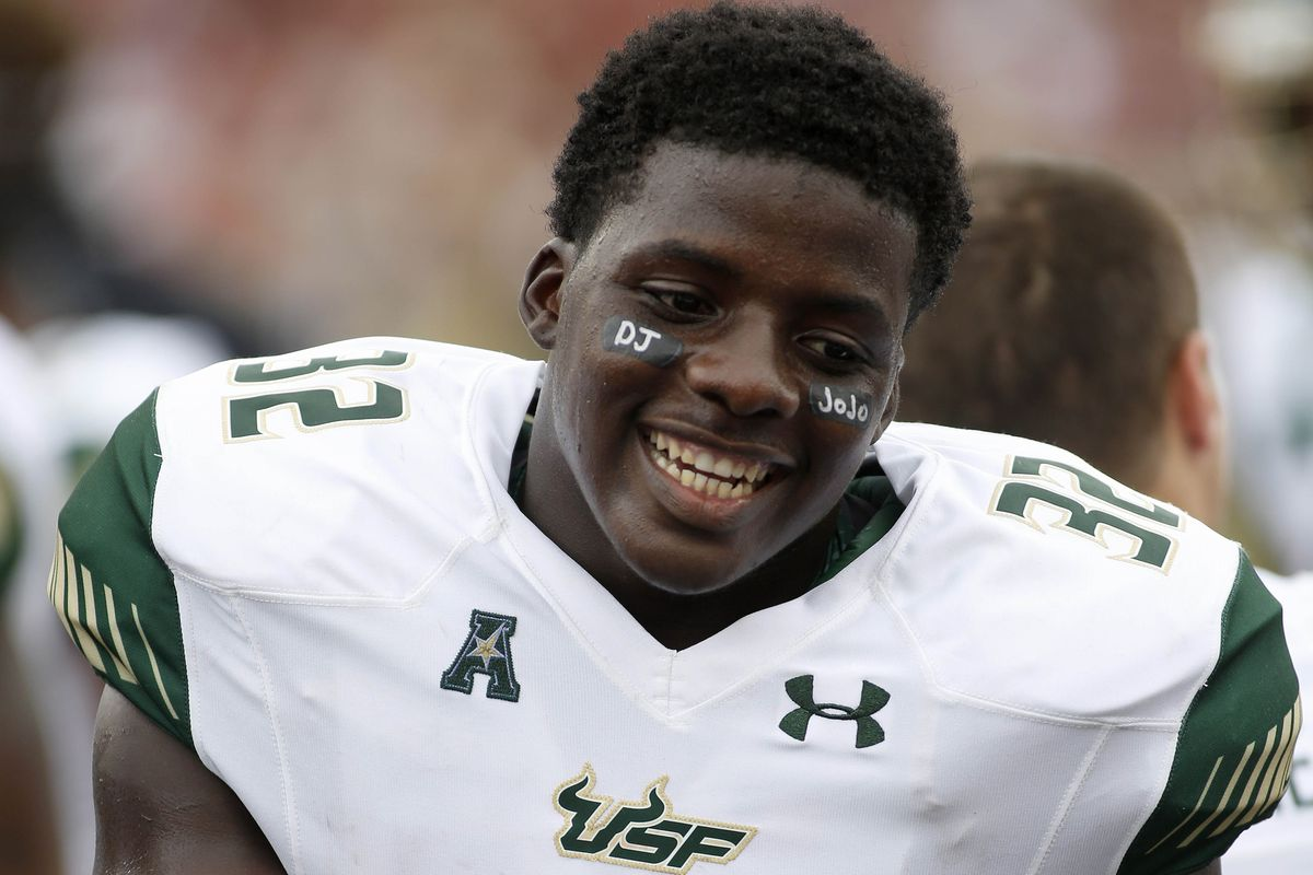 D'Ernest Johnson of South Florida looks to win a Hornung Award for the Underdogs