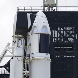 The SpaceX Falcon 9, with Dragon crew capsule on top of the rocket, sits on Launch Pad 39-A, Friday, May 29, 2020, at the Kennedy Space Center in Cape Canaveral, Fla. Two astronauts will fly on the SpaceX Demo-2 mission to the International Space Station scheduled for launch on Saturday, May 30. For the first time in nearly a decade, astronauts will blast into orbit aboard an American rocket from American soil, a first for a private company.