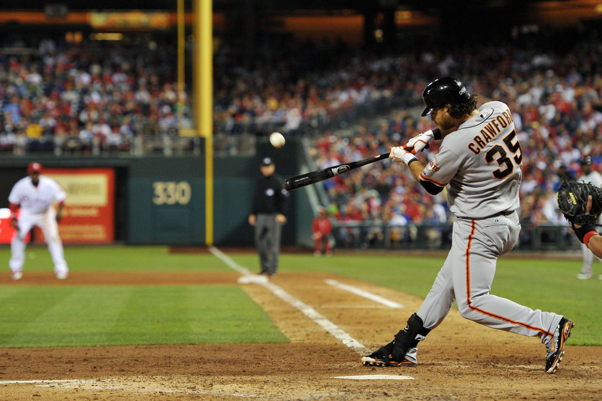 I am getting tired of bad players on the Giants killing the Phillies with home runs. (Photo by Drew Hallowell/Getty Images)