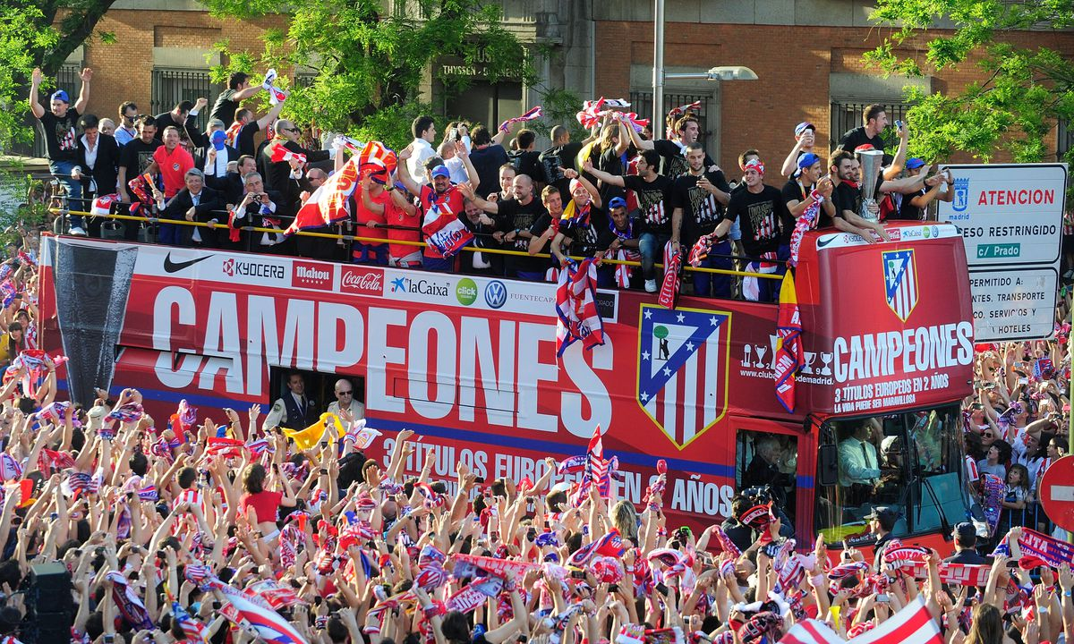 Atletico Madrid Celebrations after Winning the Europa League Final