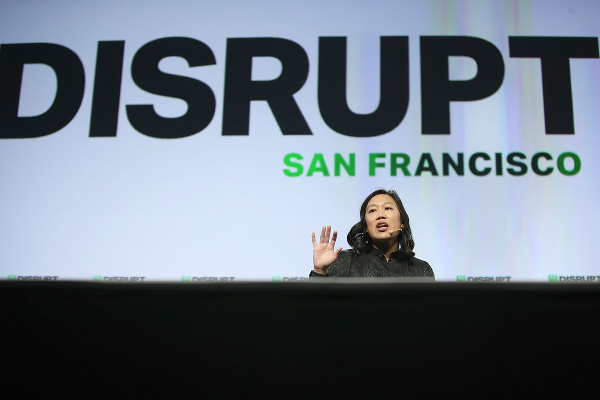 Priscilla Chan, co-founder of the Chan Zuckerberg Initiative LLC, speaks during the TechCrunch Disrupt SF 2018  on September 6, 2018 in San Francisco, California.  (Photo by Justin Sullivan/Getty Images)