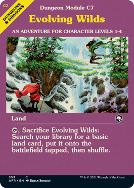 Evolving Wilds, a land dressed up to look like an adventure module from the 1970s.