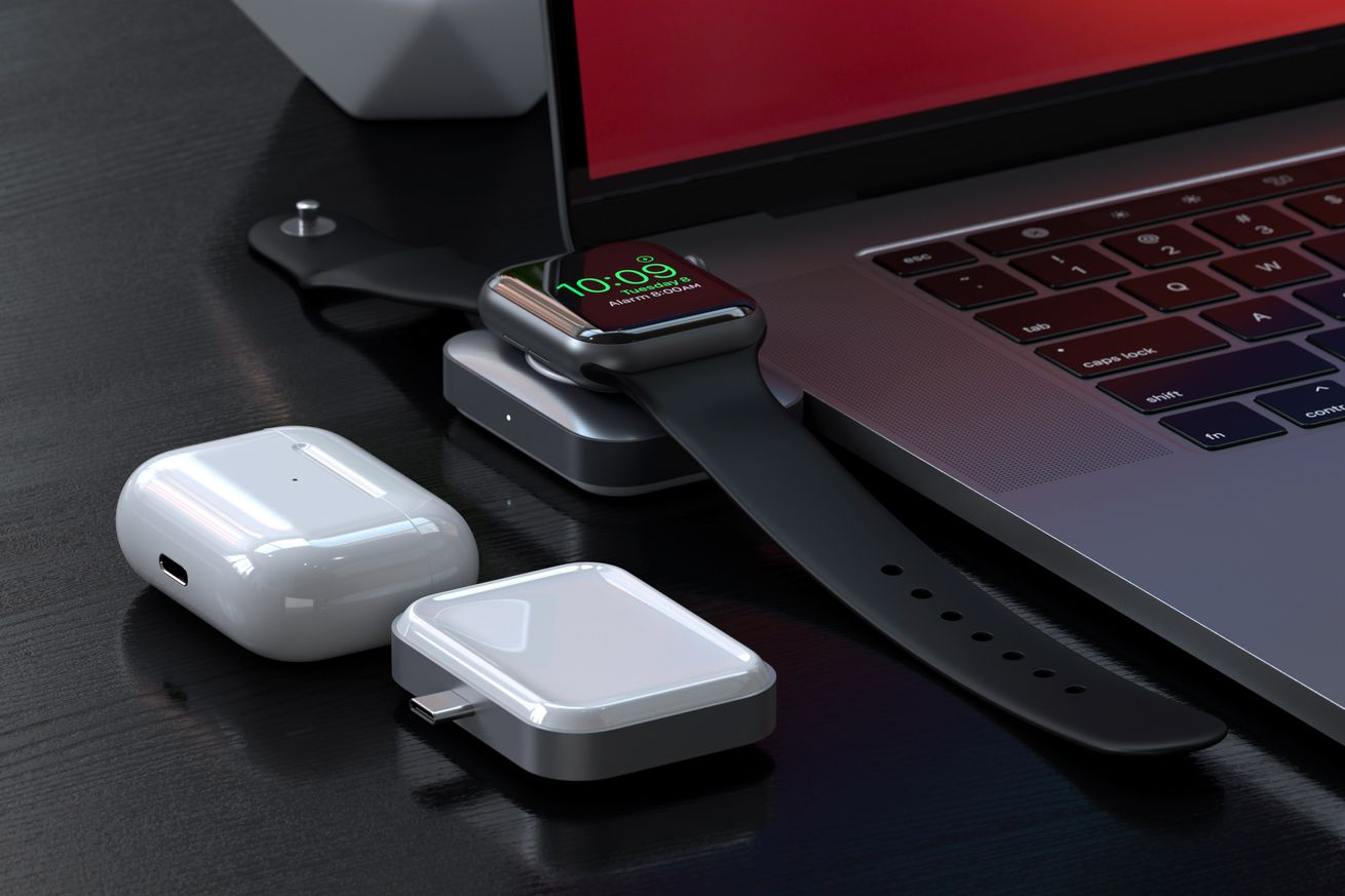 Satechi's new tiny double-sided wireless charger can top up your Apple Watch or AirPods