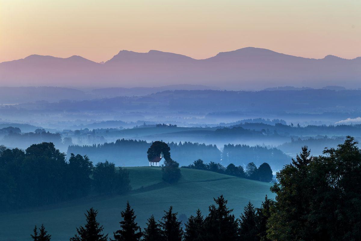 Sun meets foggy Allgäu