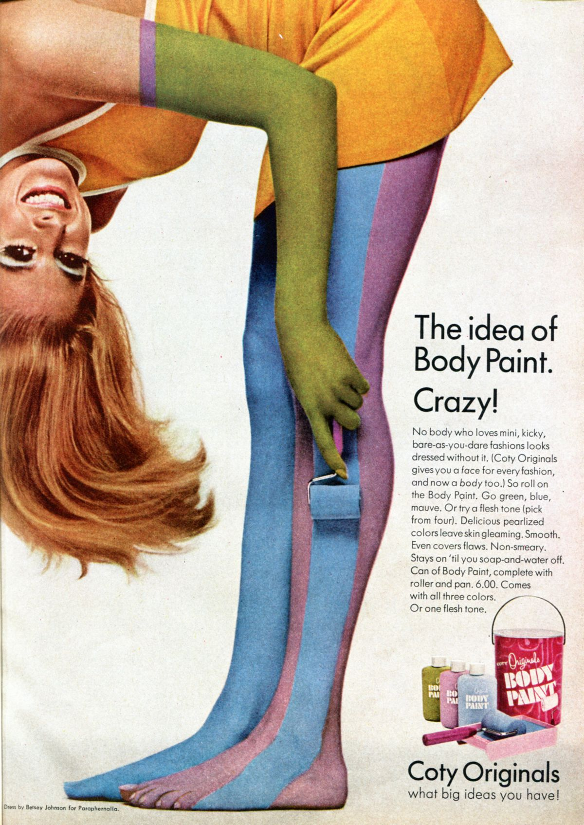 A body paint ad from 1967.