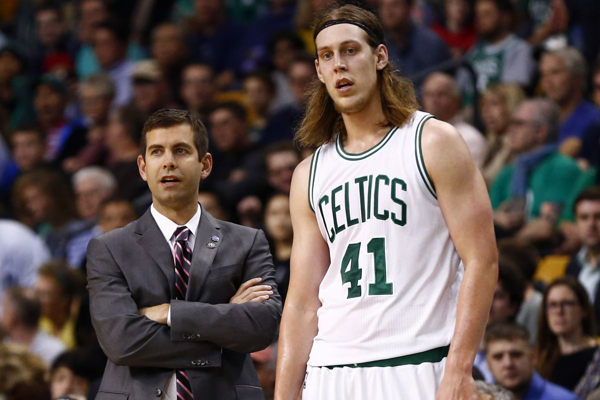 Celtics forward Kelly Olynyk (R) was mentioned in the same sentence as Pacers GM (and Celtics legend) Larry Bird! That's how this game went.