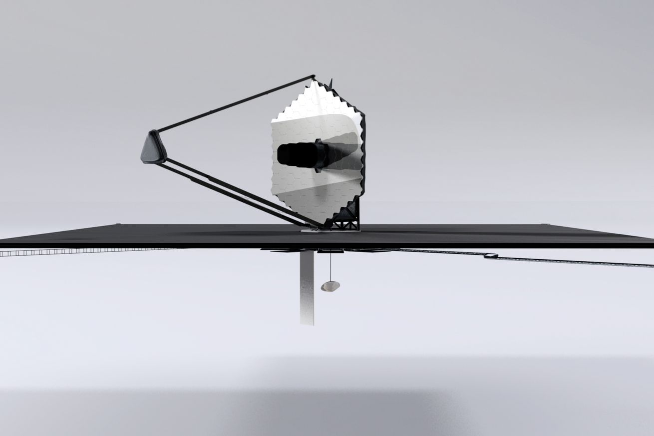 <em>An artistic rendering of what the LUVOIR telescope could look like.</em>
