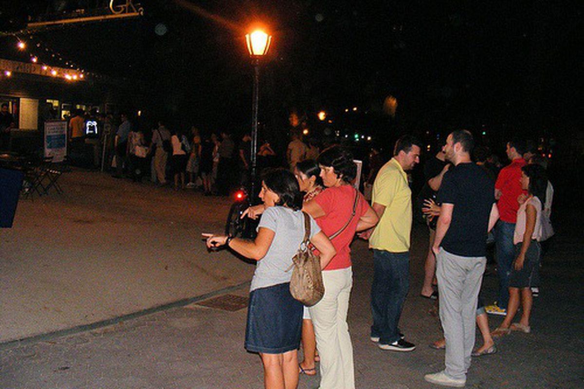 Nighttime Line for Shake Shack