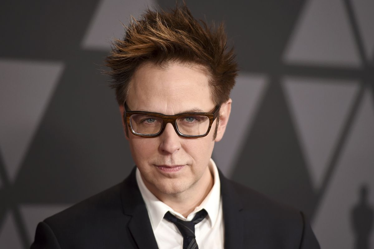 """FILE - In this Nov. 11, 2017 file photo, director James Gunn arrives at the 9th annual Governors Awards in Los Angeles. Warner Bros. on Tuesday confirmed that Gunn will write the script to the studio's next """"Suicide Squad"""" installment. In July, Disney fir"""