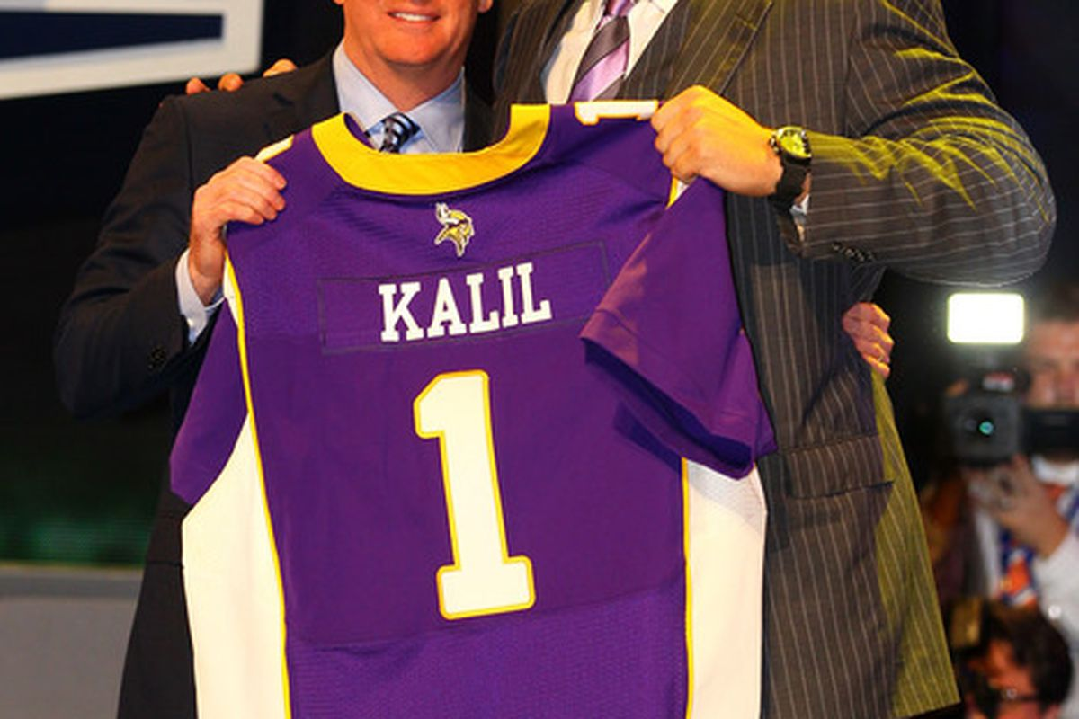 Matt Kalil. He's tall.  (Photo by Al Bello/Getty Images)