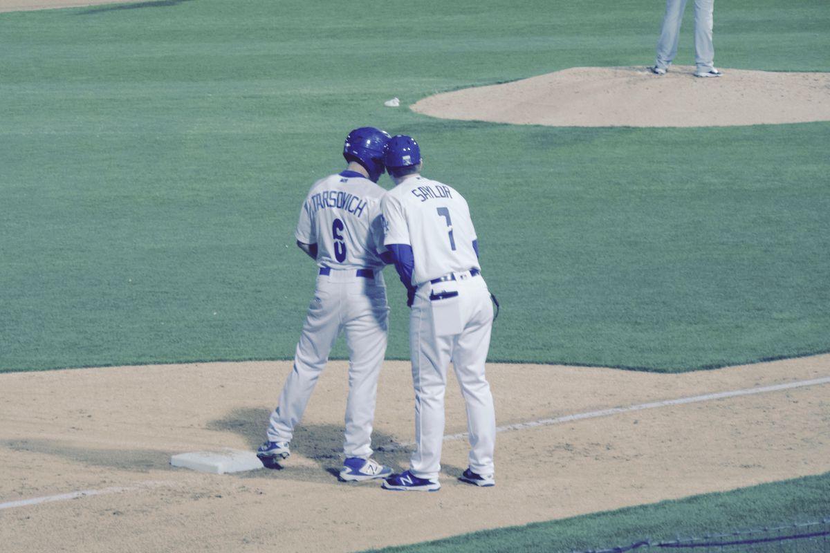 Jordan Tarsovich and Drew Saylor at a game earlier this season