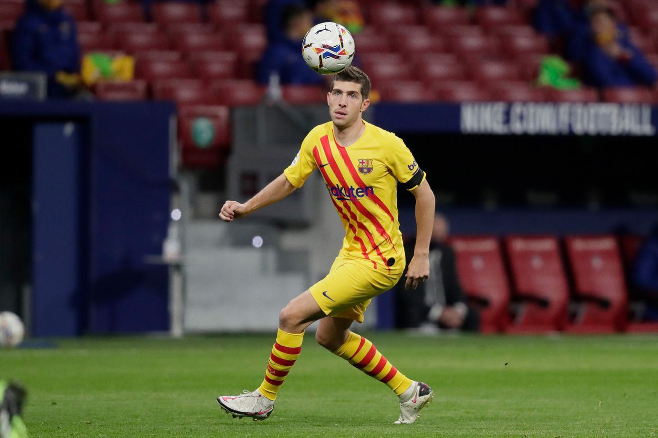 Barca rule Sergi Roberto out for 2 months, offer Pique update