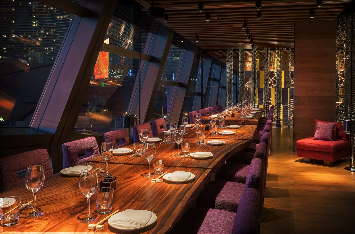 One of the private dining rooms at Zuma
