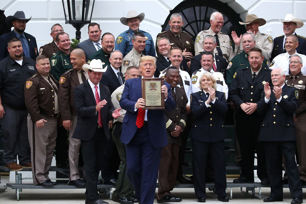 President Trump Receives Award From National Sheriffs' Association
