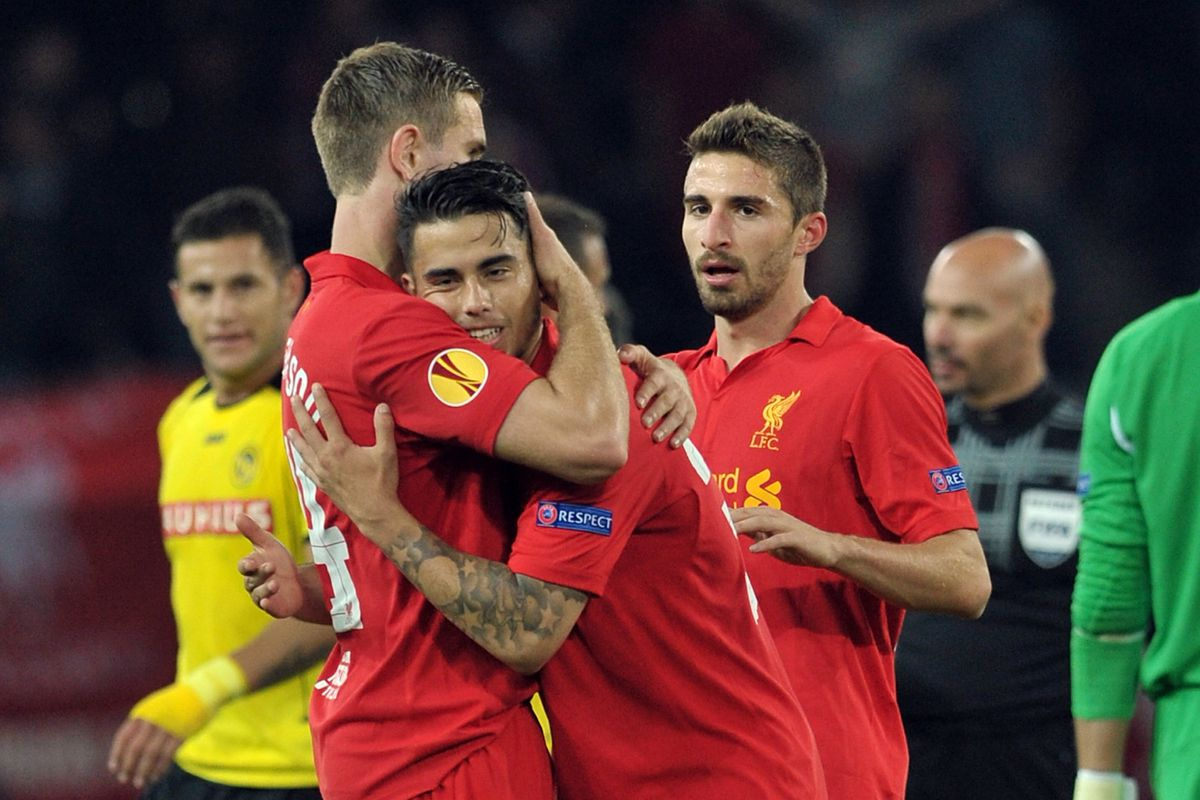 Literally the only photo in the database that features both Suso and Borini. Sad times.