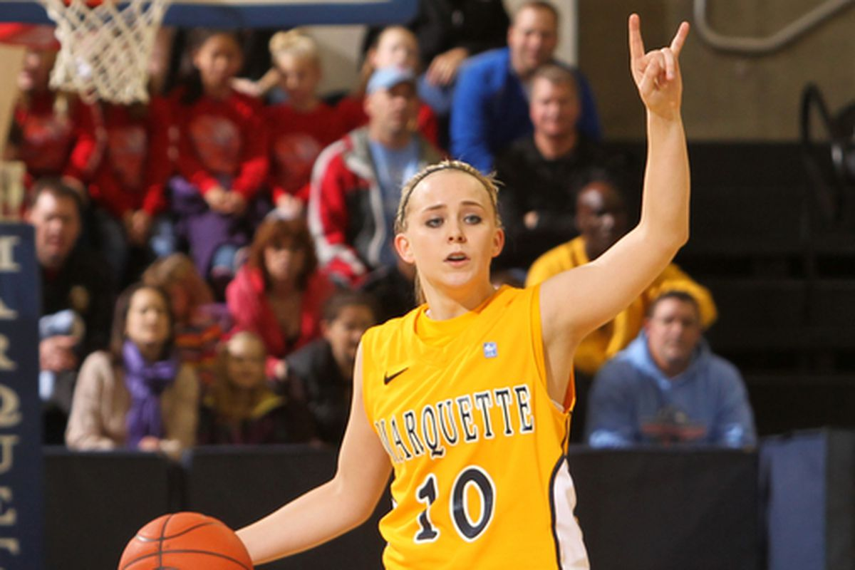 Sophomore PG Brooklyn Pumroy had 11 points, three rebounds, and six assists before fouling out.