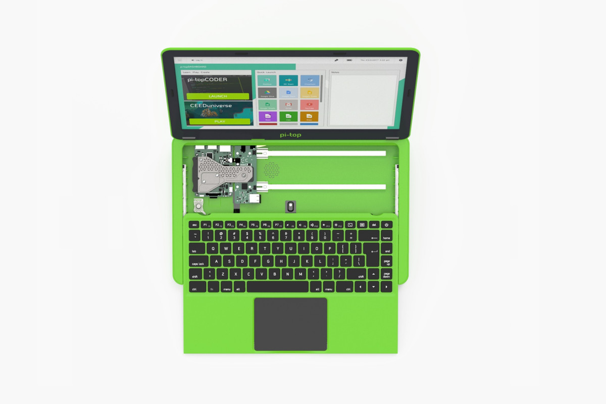 The Pi-Top turns a Raspberry Pi into a laptop to help ...