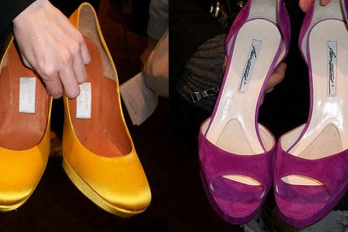 """Two colorful winners straight from Rachel Zoe's closet at Decadestwo's <a href=""""http://la.racked.com/archives/2010/02/01/decadestwo_event_a_success_on_all_possible_levels.php"""">last LA sale</a>"""